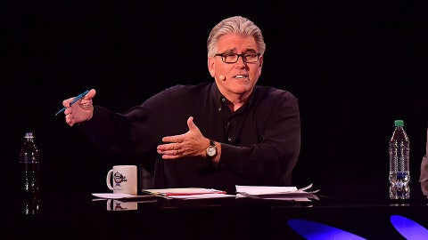 """NEW YORK, NY - MARCH 30:  Mike Francesa hosts the """"Mike And The Mad Dog"""" Reunion at Radio City Music Hall on March 30, 2016 in New York City.  (Photo by James Devaney/WireImage)"""
