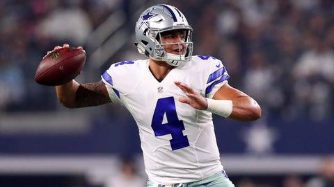 Dak Prescott, QB, Cowboys (2nd last week)