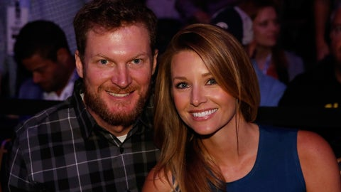 Dale Earnhardt Jr. and wife, Amy