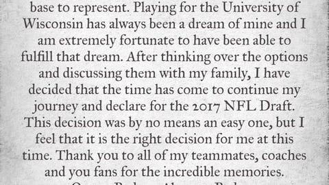 T.J. Watt, Badgers linebacker