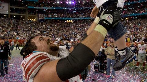 Rich Seubert and son Hunter (Super Bowl XLII)