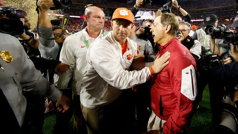 Total number of words exchanged between Dabo and Saban after game