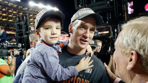 Peyton Manning and son Marshall (Super Bowl 50)