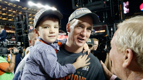 Peyton Manning and son Marshall (Super Bowl 50)