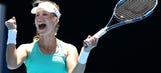 Australian Open: No. 30 Ekaterina Makarova defeats No. 6 Dominika Cibulkova