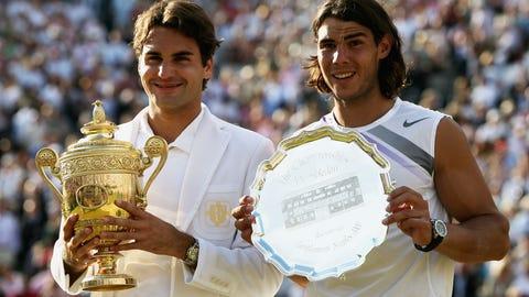 2007 Wimbledon (d. Rafael Nadal in 5)