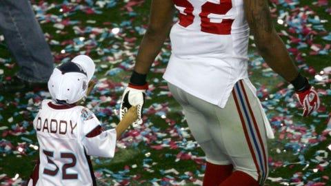 Torrance Daniels and son Jackson (Super Bowl XLII)