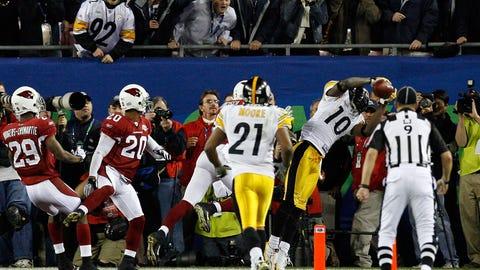 Santonio Holmes -- Pittsburgh Steelers, Super Bowl XLIII
