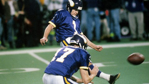 Minnesota Vikings -- Wide left (1998 NFC championship vs. Falcons)