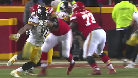James Harrison's duck and under