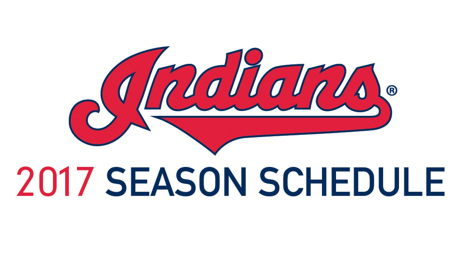 image regarding Cleveland Indians Printable Schedule named Cleveland indians 2017 program: Match situations, Television set facts