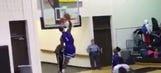 High school player's violent dunk breaks backboard, ends game