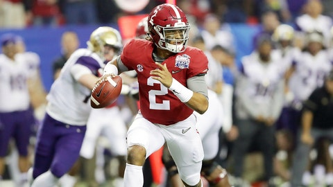 Jalen Hurts, QB, Alabama (+1200)