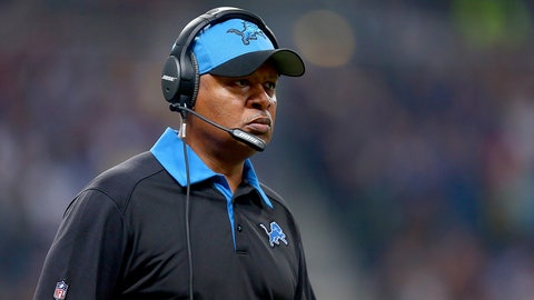 ST. LOUIS, MO - DECEMBER 13: Head coach Jim Caldwell of the Detroit Lions watches from the sideline in the second quarter against the St. Louis Rams at the Edward Jones Dome on December 13, 2015 in St. Louis, Missouri. (Photo by Dilip Vishwanat/Getty Images)