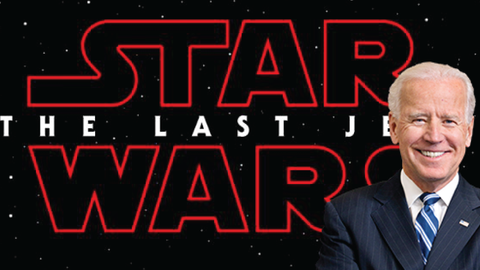 Star Wars: The Last Jedi commercial featuring Joe Biden
