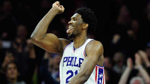 Joel Embiid becoming an instant star
