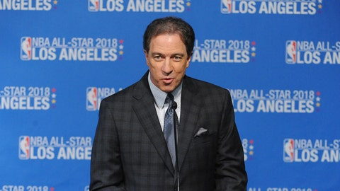 LOS ANGELES, CA - MARCH 22:  Kevin Harlan attends the press conference announcing Los Angeles as the site for the 2018 NBA All-Star Game on March 22, 2016 at STAPLES Center in Los Angeles, California. NOTE TO USER: User expressly acknowledges and agrees that, by downloading and/or using this Photograph, user is consenting to the terms and conditions of the Getty Images License Agreement. Mandatory Copyright Notice: Copyright 2016 NBAE (Photo by Garrett Ellwood/NBAE via Getty Images)
