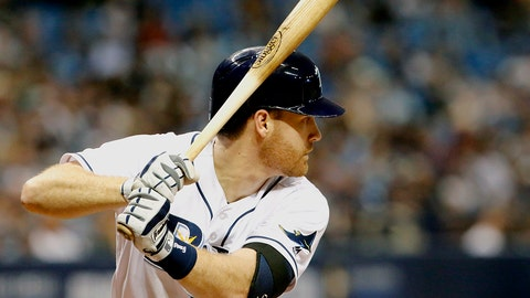 ST. PETERSBURG, FL - SEPTEMBER 21:  Second baseman Logan Forsythe #11 of the Tampa Bay Rays bats during the third inning of the game against the New York Yankees at Tropicana Field on September 21, 2016 in Tampa, Florida. (Photo by Joseph Garnett Jr. /Getty Images)