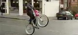 Marshawn Lynch is in Scotland popping wheelies on a BMX bike while playing chicken with a bus