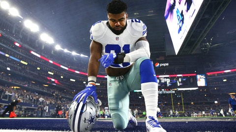 Offensive Rookie of the Year: 1. Ezekiel Elliott, Cowboys