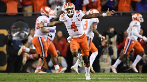 1. If he hadn't already, Deshaun Watson cemented his place as Clemson's greatest