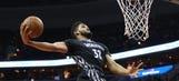 Wolves-Wizards Twi-lights: Watch KAT's monster windmill dunk