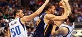 Gobert 27 points, 25 rebounds in Jazz 112-107 OT win at Mavs