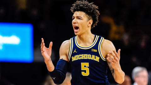 Los Angeles Lakers: D.J. Wilson, PF, Michigan (sophomore)
