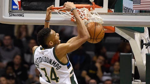 Giannis Antetokounmpo is joining Kareem-Abdul Jabbar in the record books