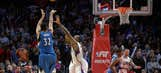 Towns proves to be too much for short-handed Clippers