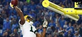 Packers receiver Adams fined for goal post dunk