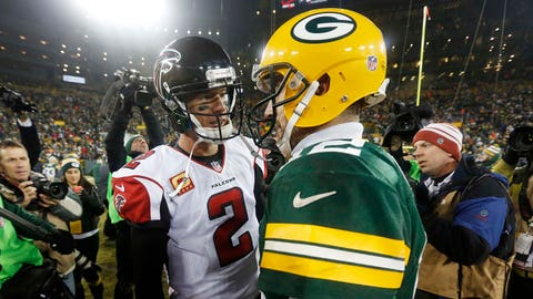 FALCONS (-4) over Packers (Over/under: 61.5)