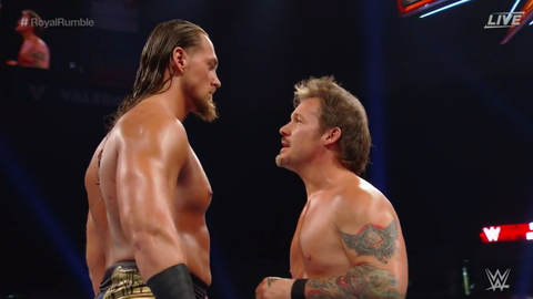 Big Cass and Chris Jericho were the first two entrants in the Royal Rumble match