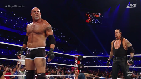 The Undertaker enters at No. 29, eliminates Goldberg