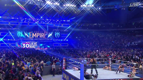Roman Reigns enters at No. 30