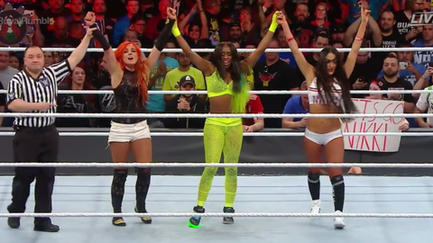 Naomi, Nikki Bella and Becky Lynch defeat Alexa Bliss, Mickie James and Natalya