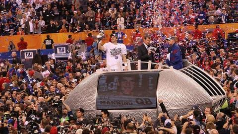 Super Bowl XLVI (Indianapolis): Giants 21, Patriots 17
