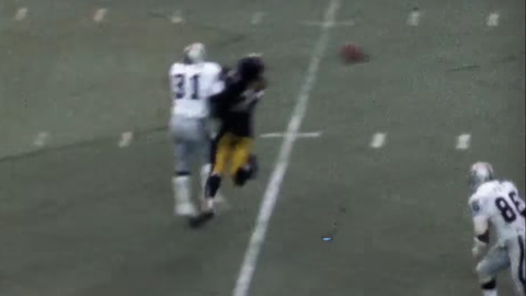 Oakland Raiders -- The Immaculate Reception (1972 AFC divisional playoff vs. Steelers)