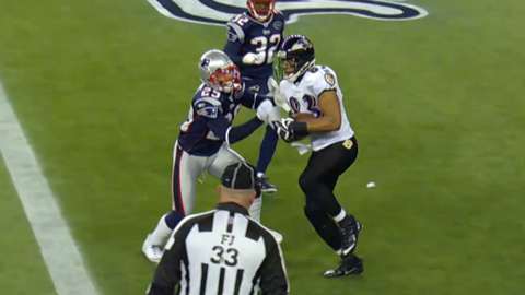 Baltimore Ravens -- The Drop (2011 AFC championship at Patriots)
