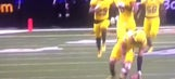USC commit jumps line and kicks ball off tee for insane TD play