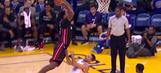 Watch James Johnson dunk Stephen Curry into oblivion