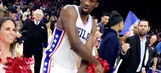 Watch Joel Embiid celebrate with 76ers cheerleaders following last-second victory