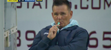 This manager appears to be vaping on the FA Cup sidelines