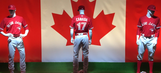 The Blue Jays will be wearing all-red jerseys every Sunday