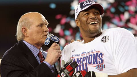 Michael Strahan -- New York Giants, Super Bowl XLII