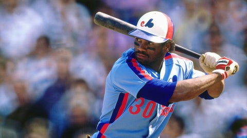 FLUSHING, NY - SEPTEMBER 1989:  Tim Raines #30 of the Montreal Expos batting against the New York Mets in September 1989 at Shea Stadium in Flushing, New York.  (Photo by Ronald C. Modra/Sports Imagery/Getty Images)