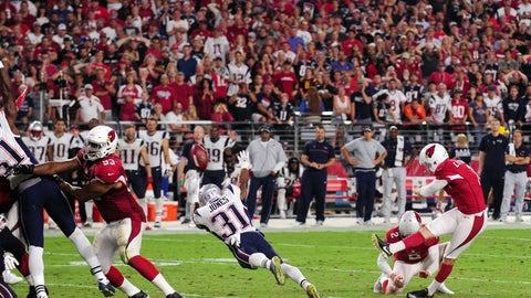 Week 1: The missed field goal at Arizona