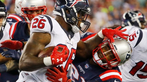 Houston Texans -- Covering the spread against the Patriots (Saturday?)