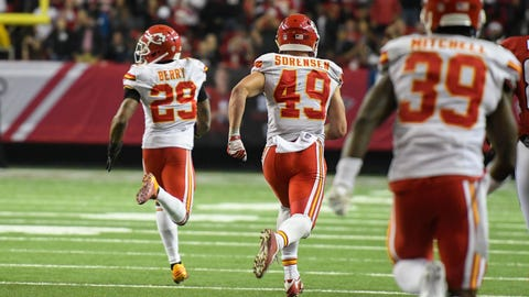Week 13: The Chiefs stun the Falcons with a game-winning INT return on a two-point conversion attempt
