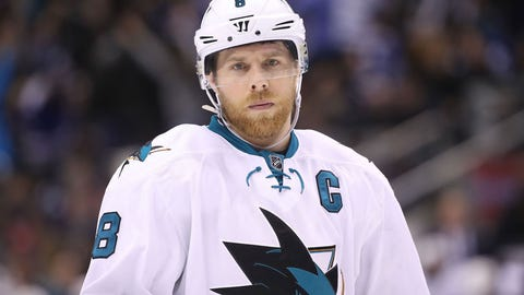 Joe Pavelski, F, Sharks